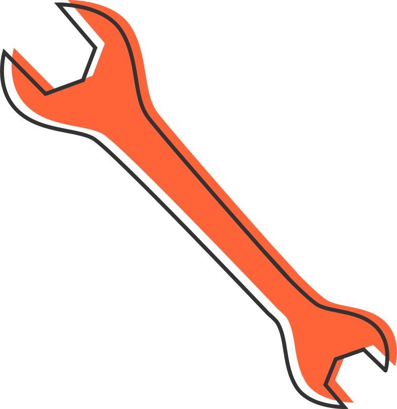 wrench Clipart illustration in PNG, SVG