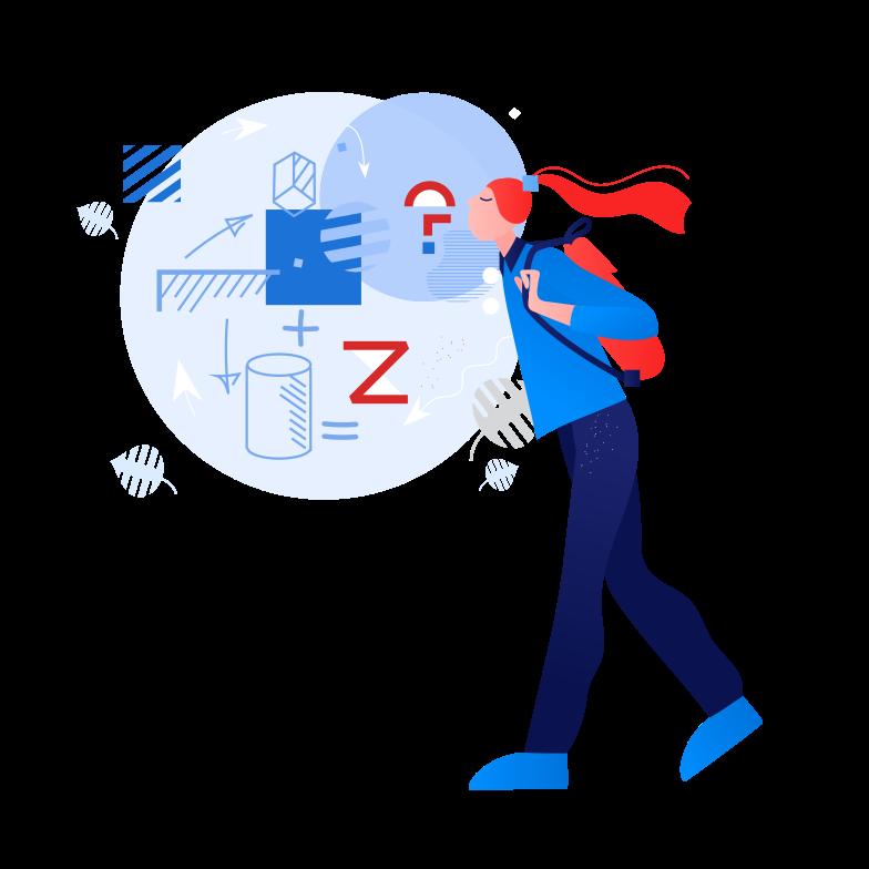Imágenes vectoriales estudiante pensando en matemáticas en PNG y SVG estilo  | Ilustraciones Icons8