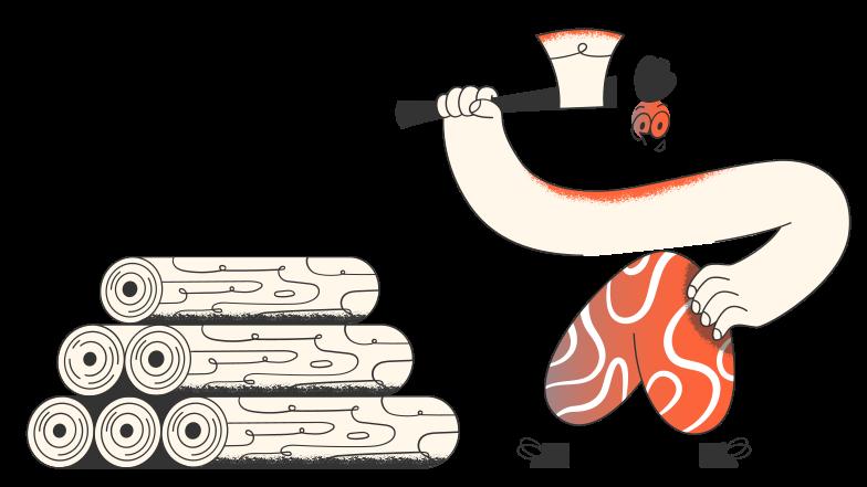 Lumberjack Clipart illustration in PNG, SVG