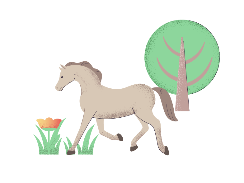 Wild horse Clipart illustration in PNG, SVG