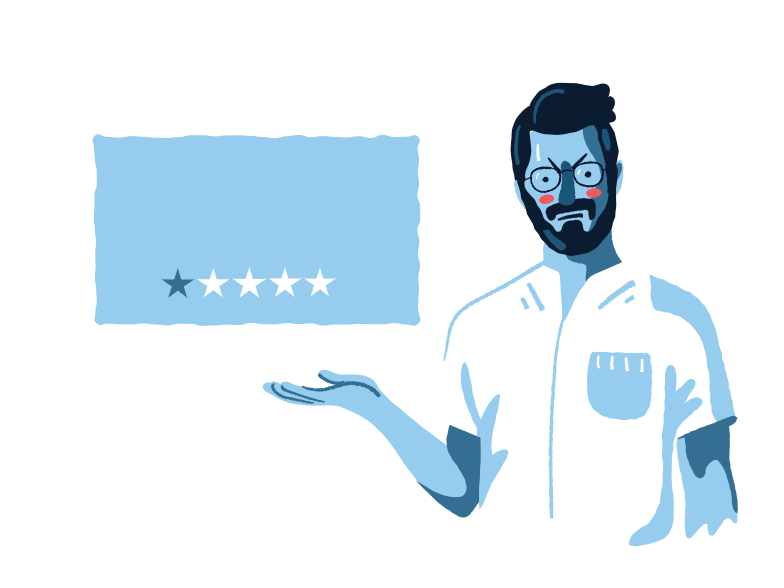Bad review  Clipart illustration in PNG, SVG