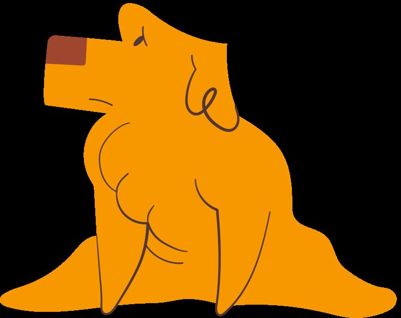 little labrador Clipart illustration in PNG, SVG