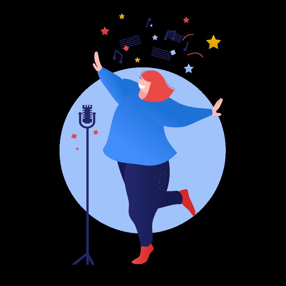 Singer Clipart illustration in PNG, SVG