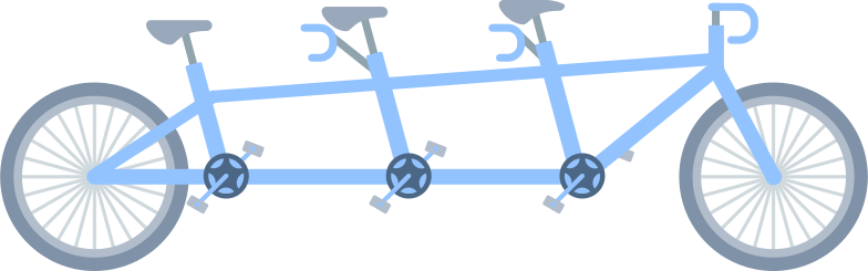 tandem bycicle Clipart illustration in PNG, SVG