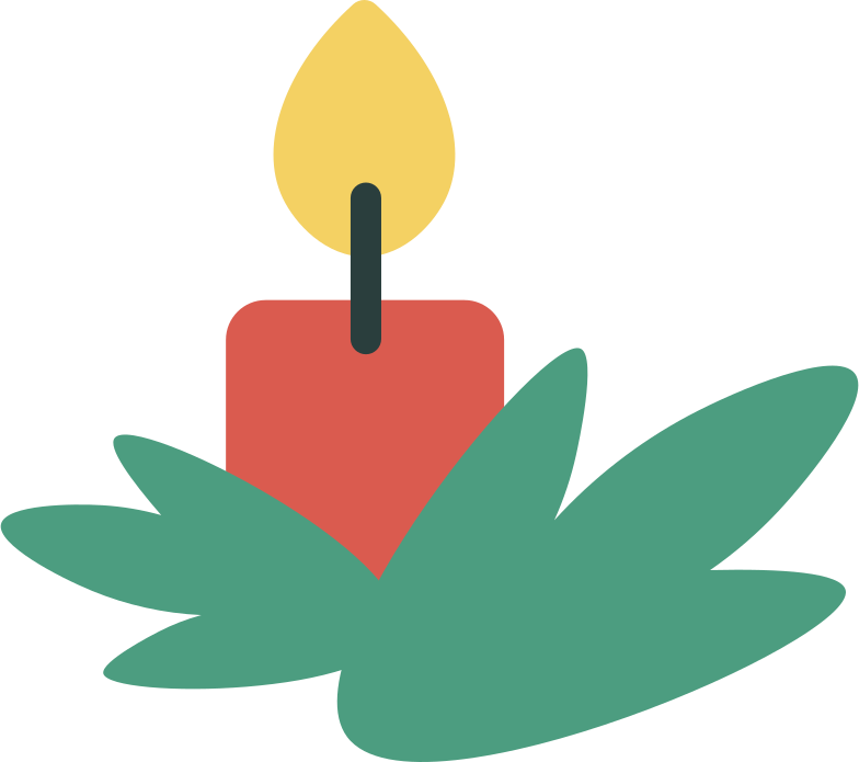 christmas candle Clipart illustration in PNG, SVG