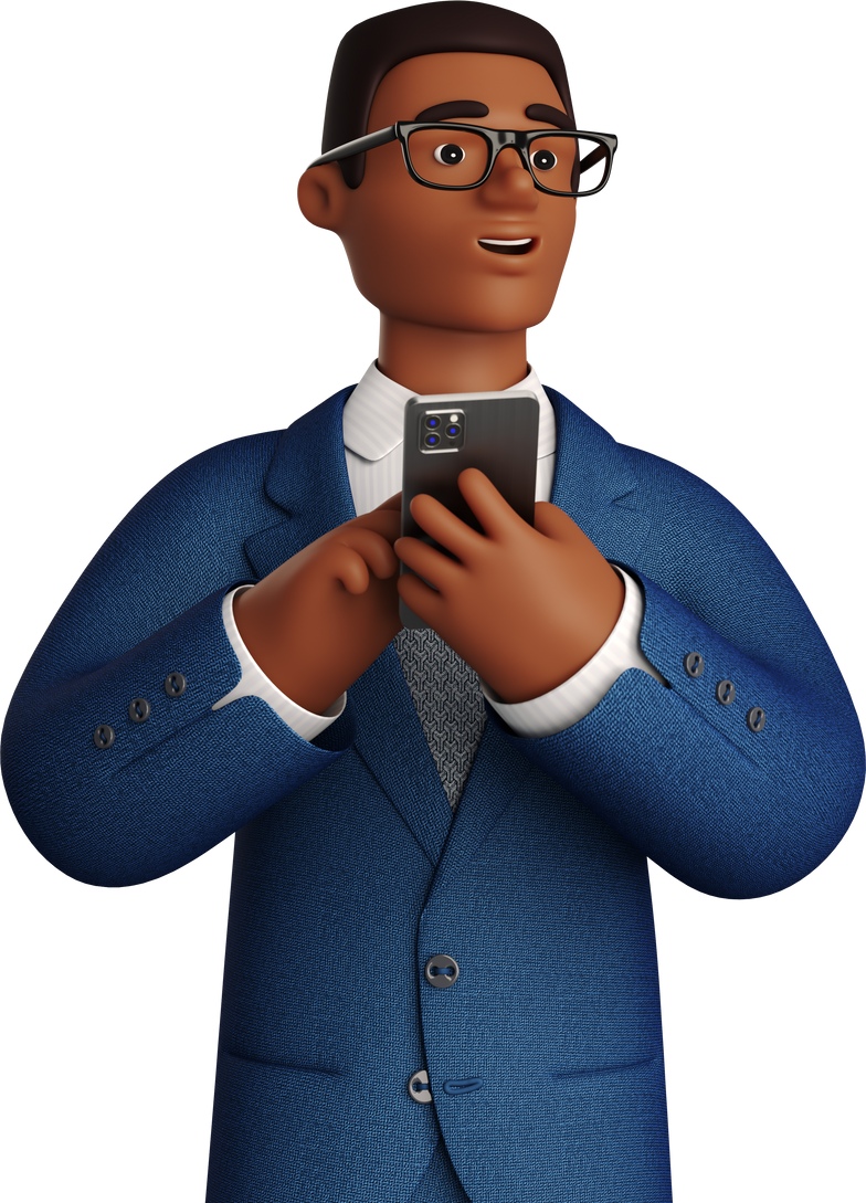 with phone man Clipart illustration in PNG, SVG