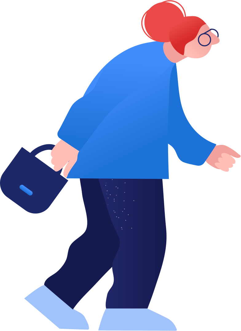 granny walks Clipart illustration in PNG, SVG