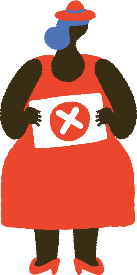 woman with table Clipart illustration in PNG, SVG