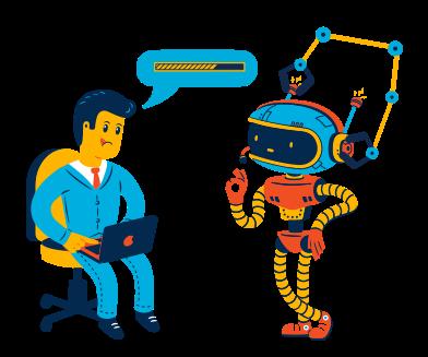 Иллюстрация Сборка робота в стиле  в PNG и SVG | Icons8 Иллюстрации
