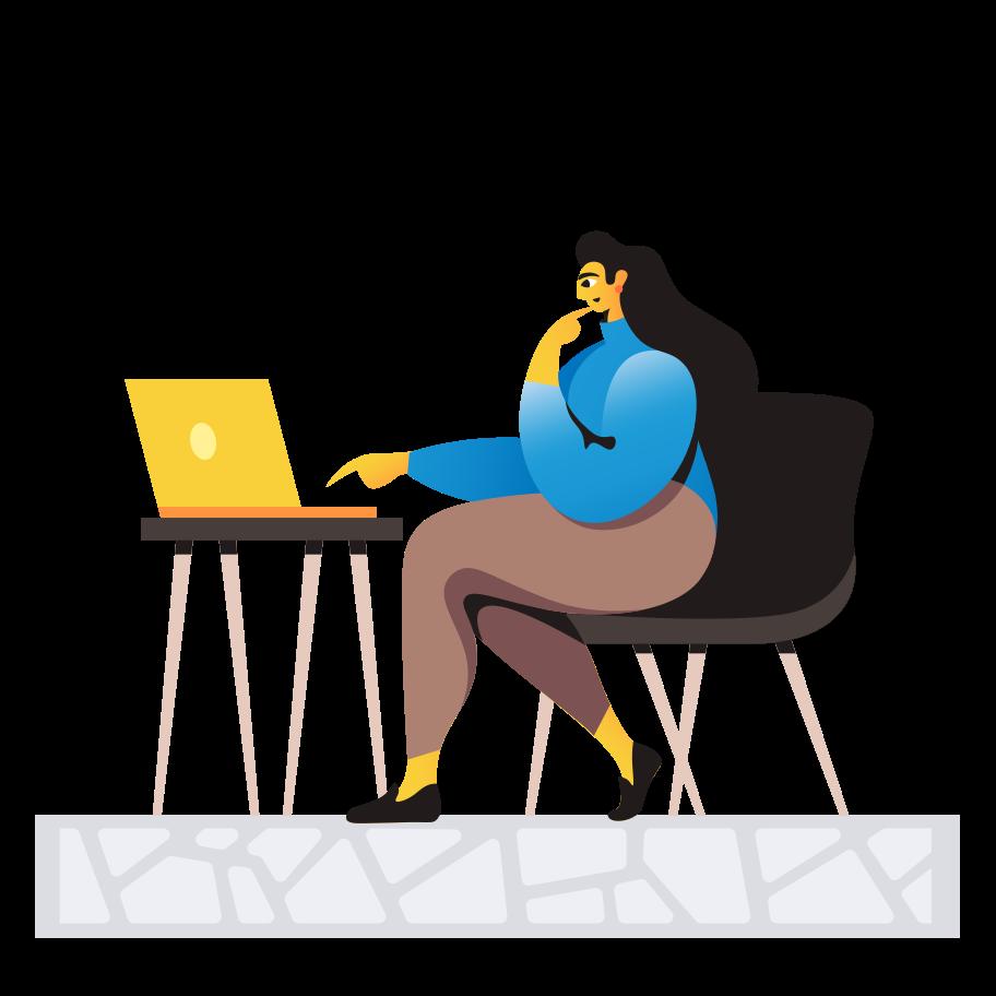 Internet surfing Clipart illustration in PNG, SVG