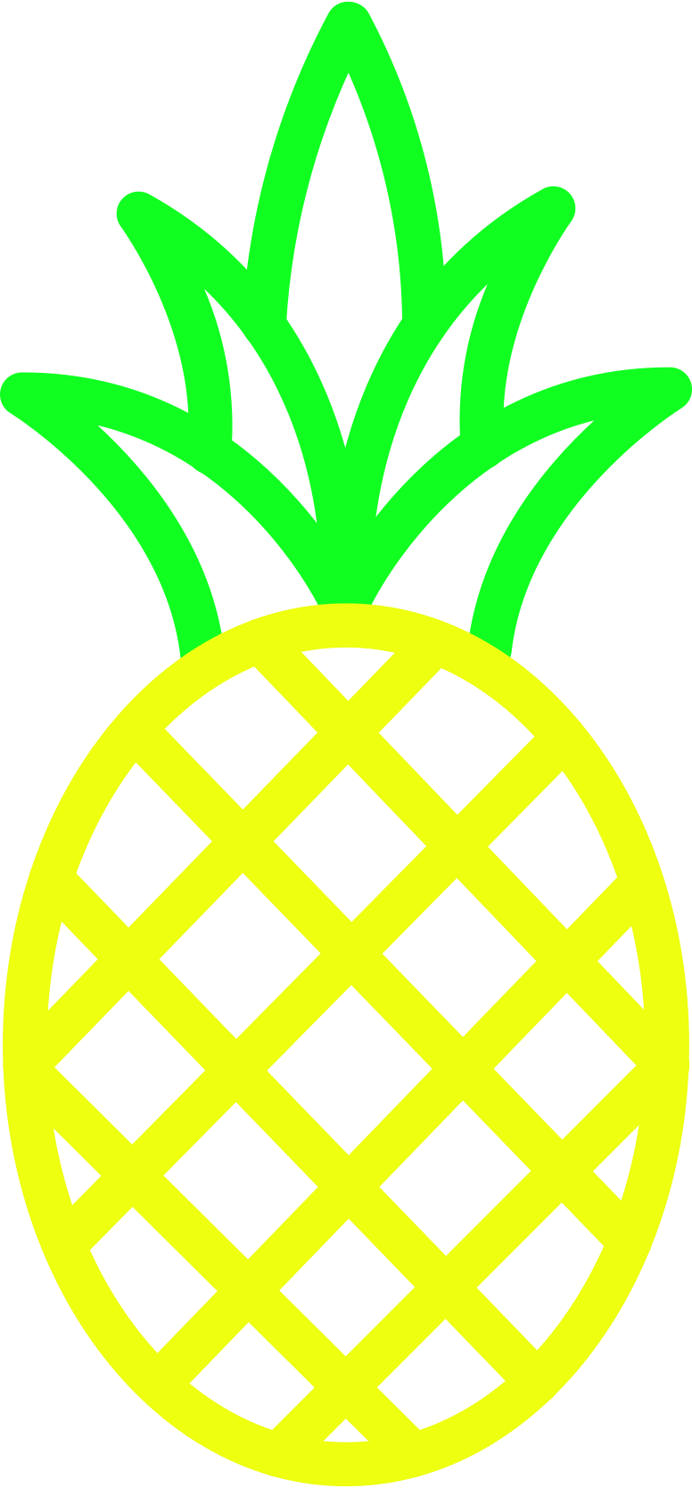 r pineapple Clipart illustration in PNG, SVG