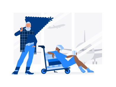 style Santa in airport images in PNG and SVG | Icons8 Illustrations