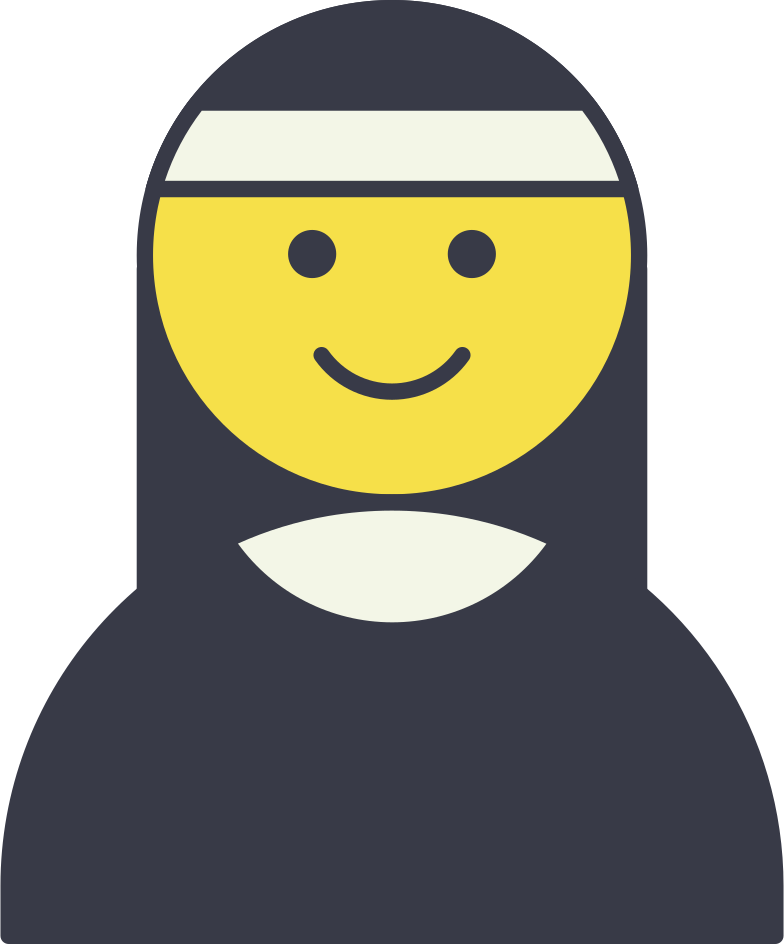 nun Clipart illustration in PNG, SVG