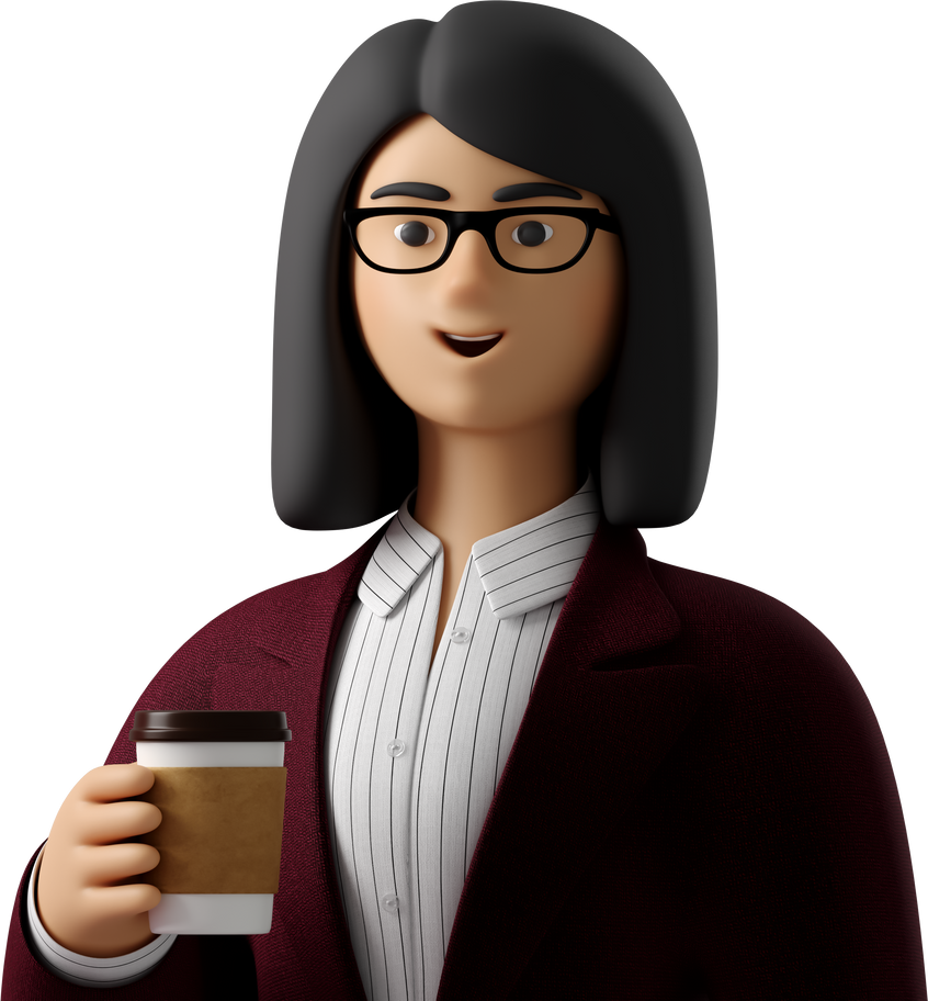 with coffee girl  close-up Clipart illustration in PNG, SVG