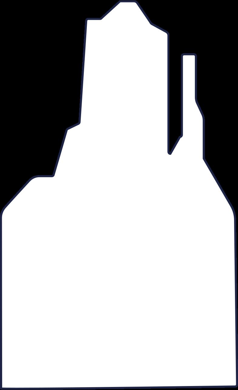 desert rock 1 line Clipart illustration in PNG, SVG
