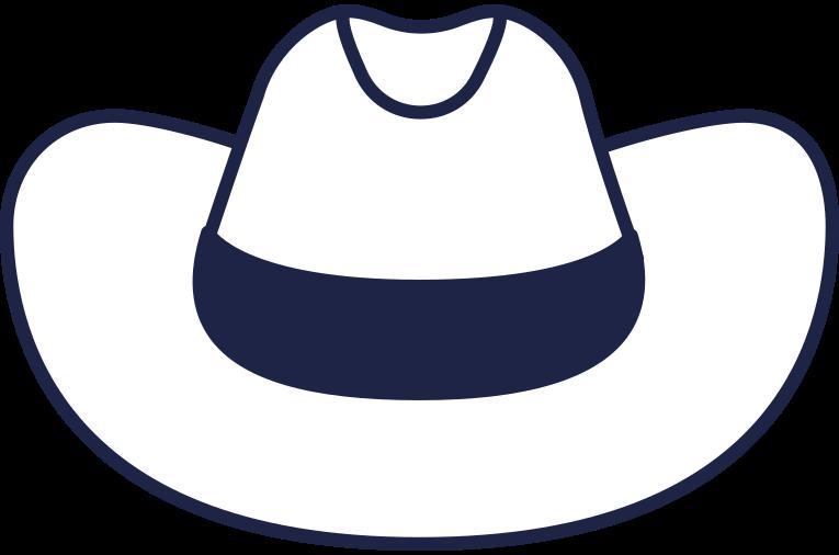 cowboy hat line Clipart illustration in PNG, SVG