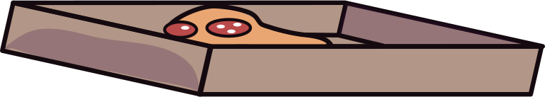 pizza box Clipart illustration in PNG, SVG