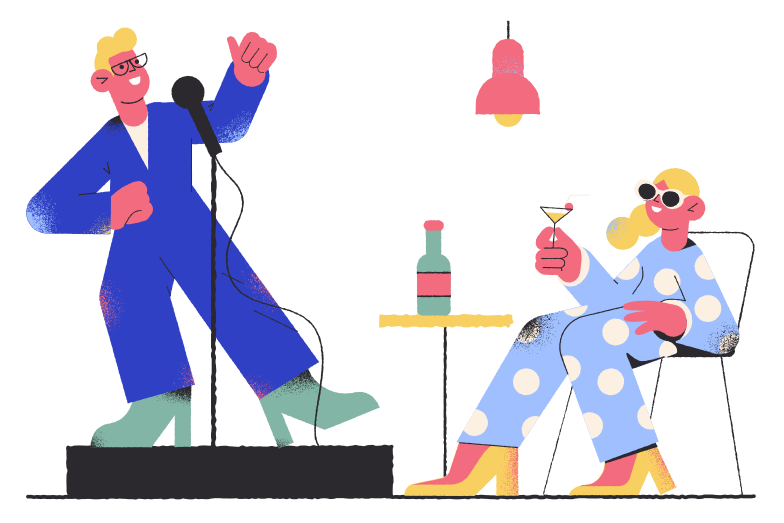 style Stand-up performance Vector images in PNG and SVG | Icons8 Illustrations