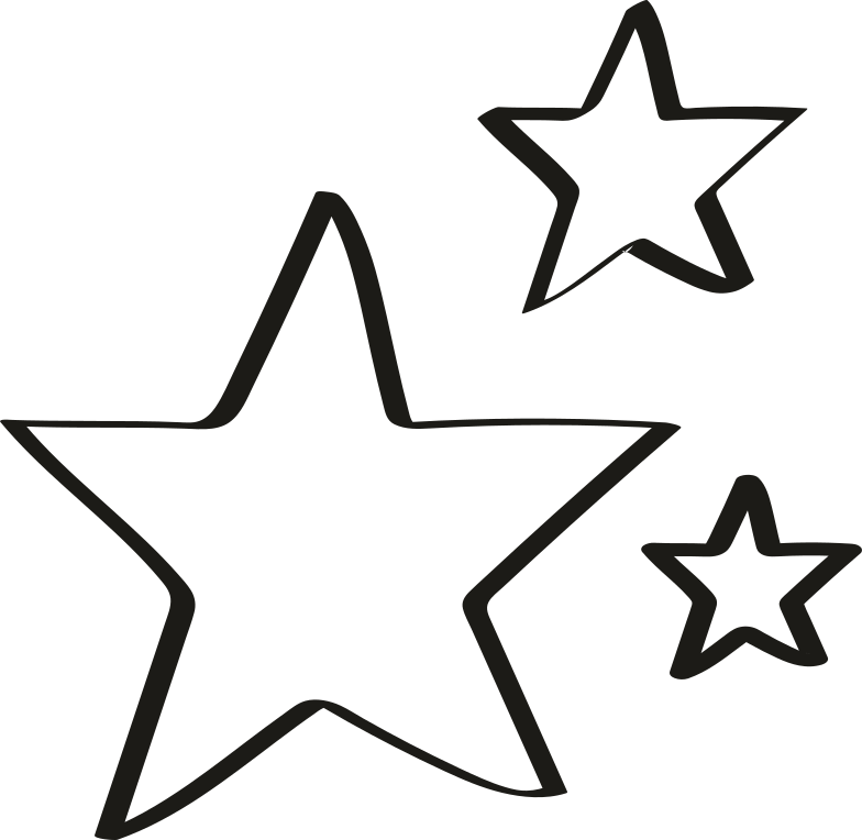tk black three stars Clipart illustration in PNG, SVG