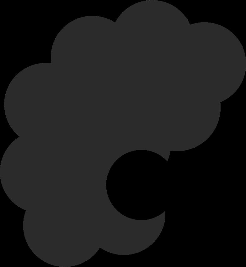 short curly hair back Clipart illustration in PNG, SVG