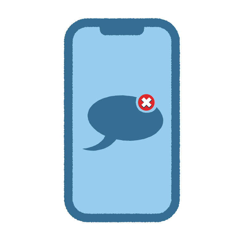 Message not sent Clipart illustration in PNG, SVG