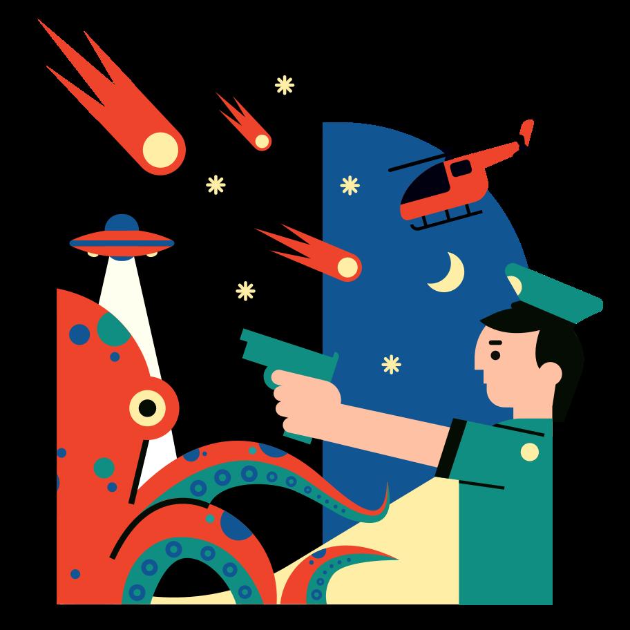 Alien invasion Clipart illustration in PNG, SVG