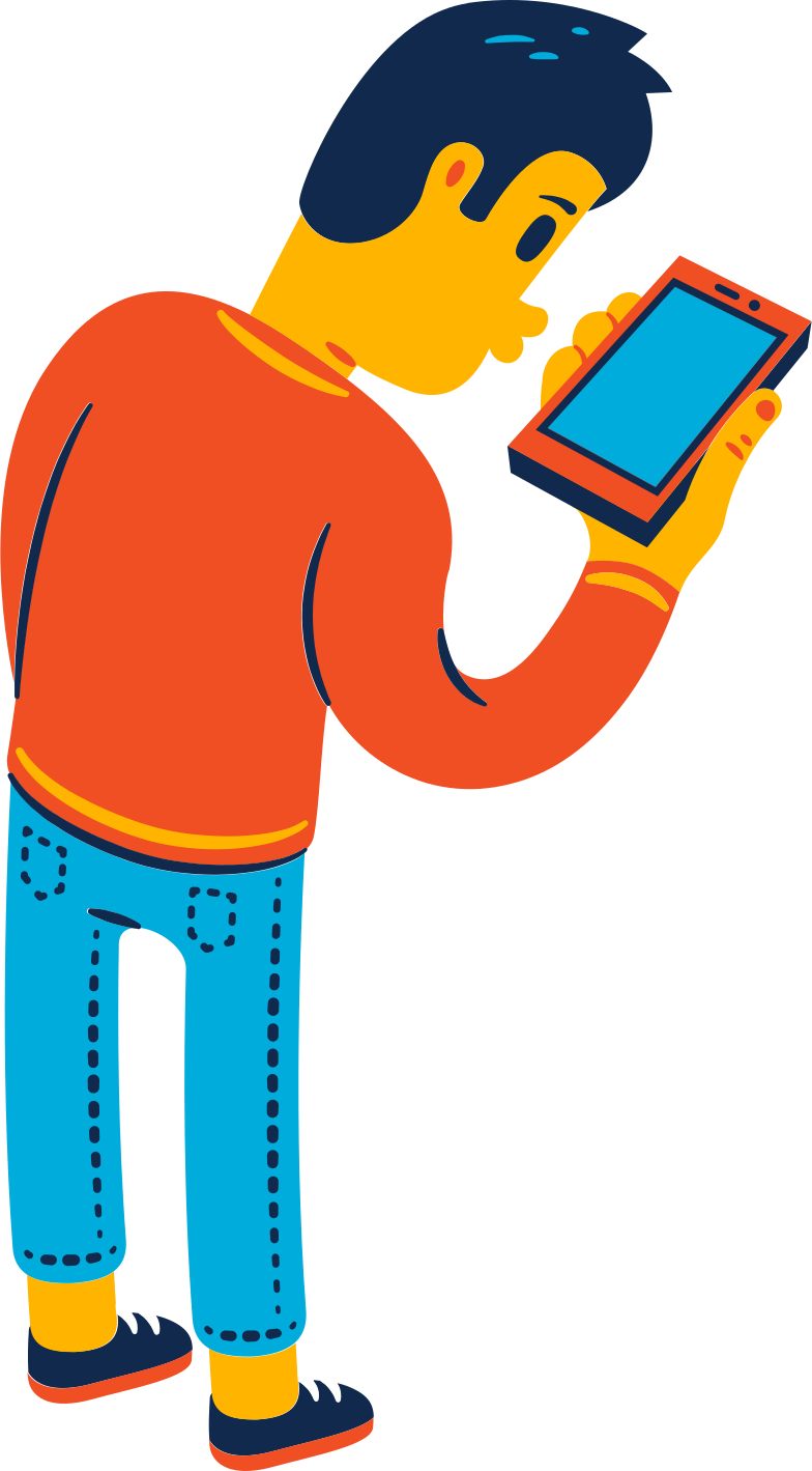 msn looking at the phone Clipart illustration in PNG, SVG