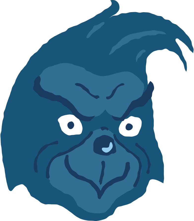 style grinch head no hat satisfied Vector images in PNG and SVG | Icons8 Illustrations