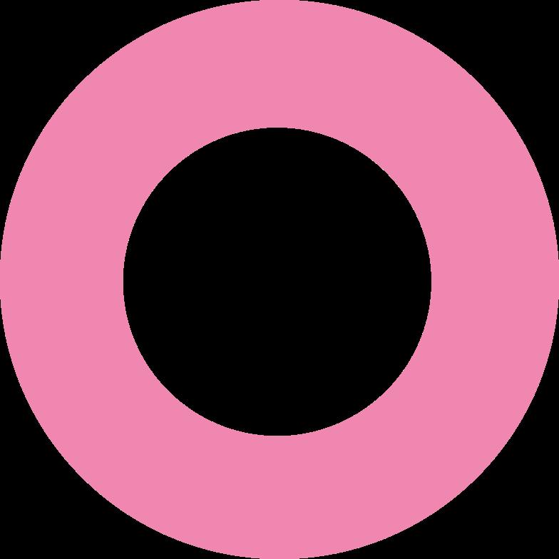 ring  pink Clipart illustration in PNG, SVG
