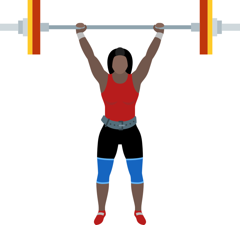 woman with barbell Clipart illustration in PNG, SVG