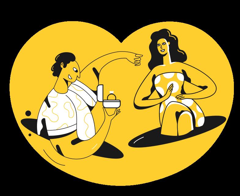 Proposta di matrimonio Illustrazione clipart in PNG, SVG