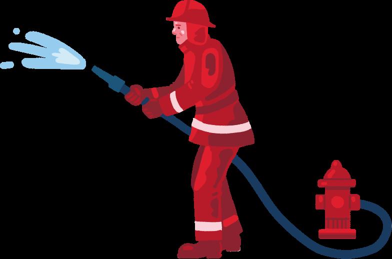 fireman Clipart illustration in PNG, SVG