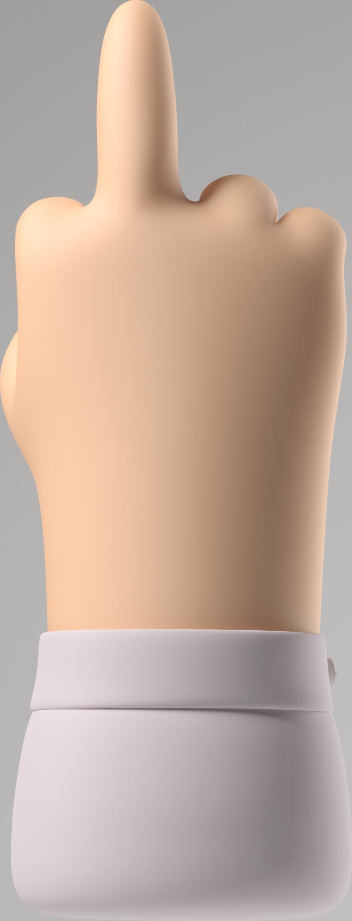 Ilustración de clipart de dedo medio en PNG, SVG