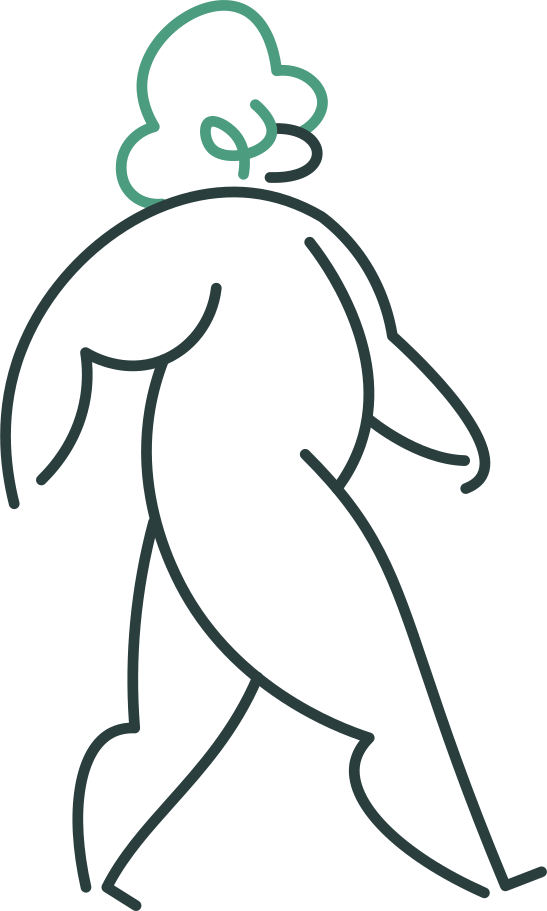Ilustración de clipart de Hombre yendo en PNG, SVG