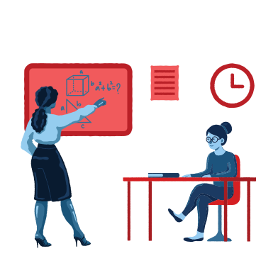 style Teacher and pupil in the class images in PNG and SVG | Icons8 Illustrations
