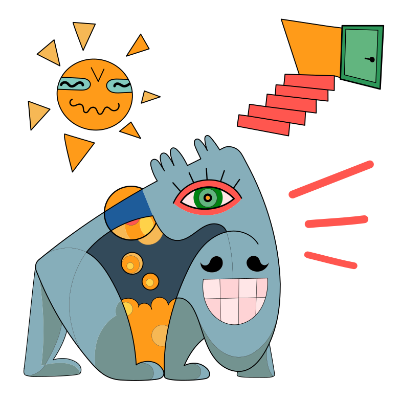 Sunny day Clipart illustration in PNG, SVG