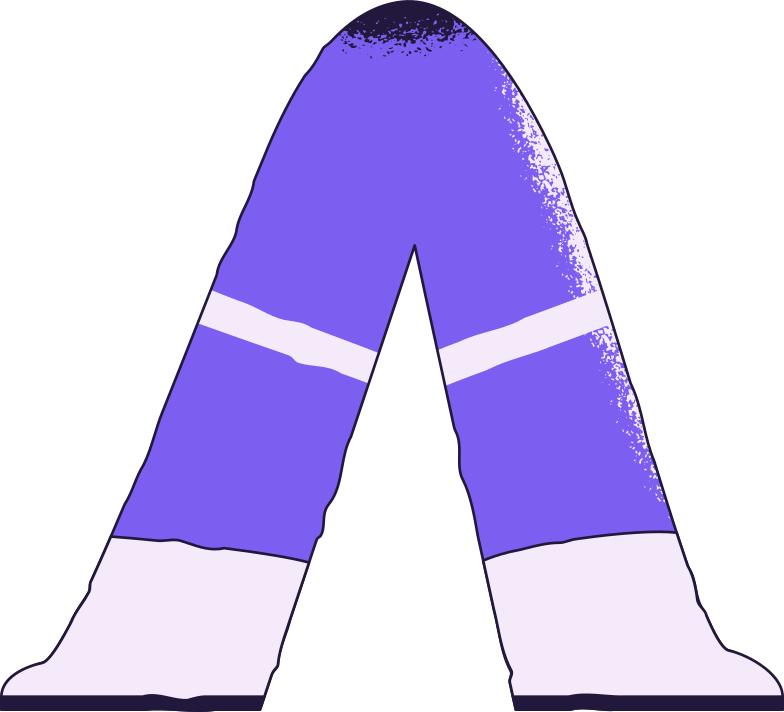 space suit legs Clipart illustration in PNG, SVG