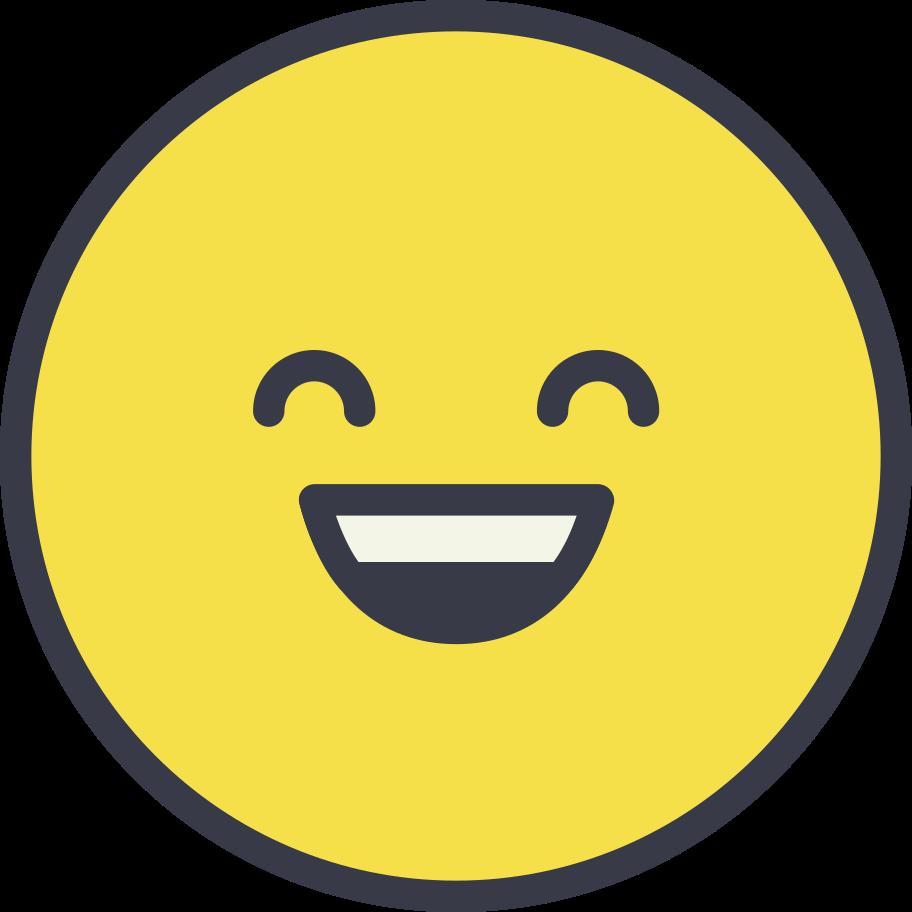 Ilustración de clipart de Cara feliz en PNG, SVG