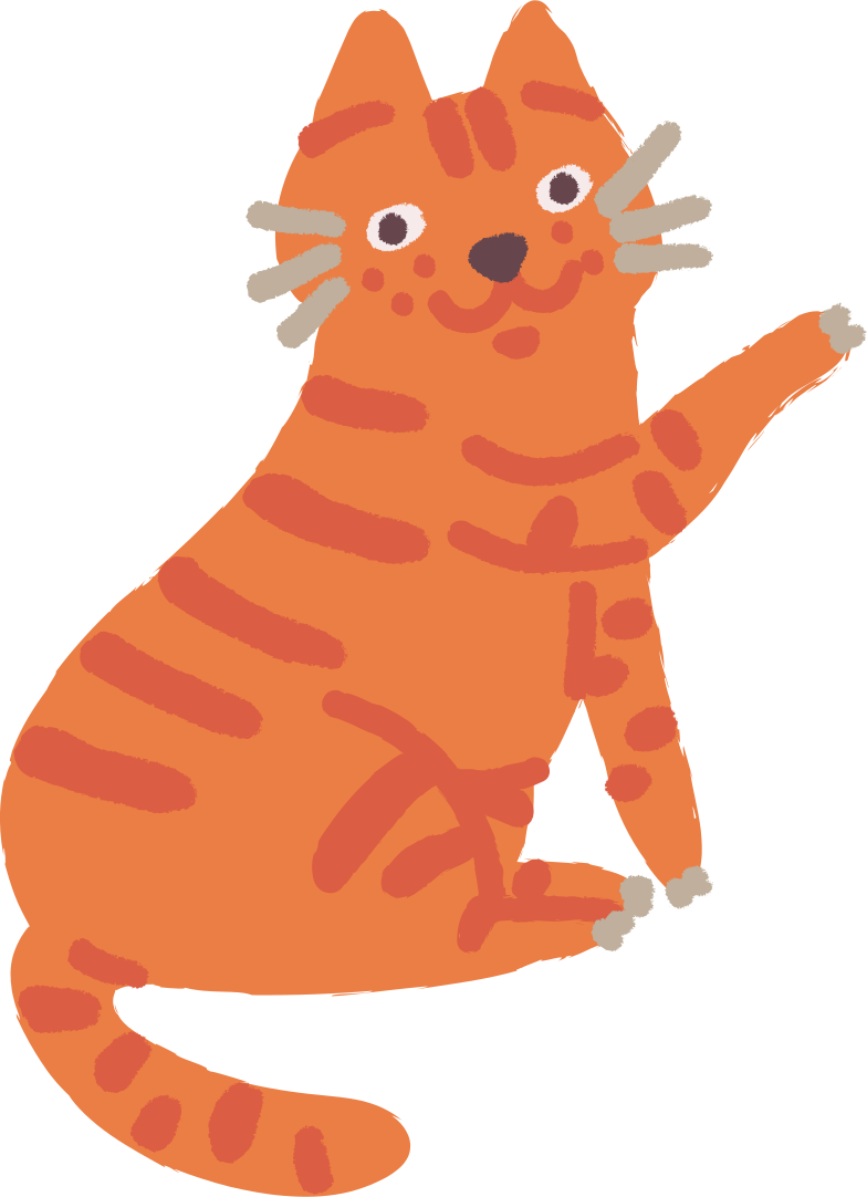 cat sitting Clipart illustration in PNG, SVG