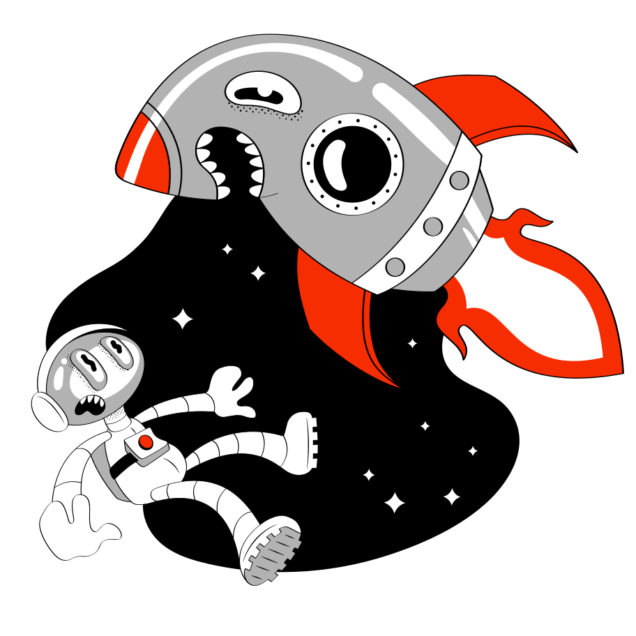 style Mad Rocket Vector images in PNG and SVG | Icons8 Illustrations