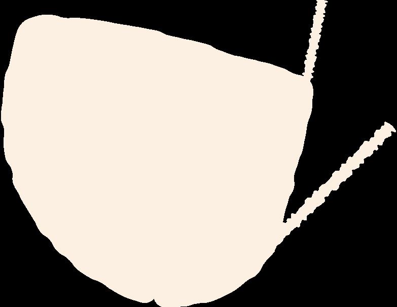 medical mask side view Clipart illustration in PNG, SVG