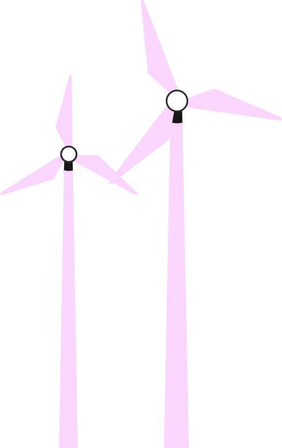 two windmill Clipart illustration in PNG, SVG