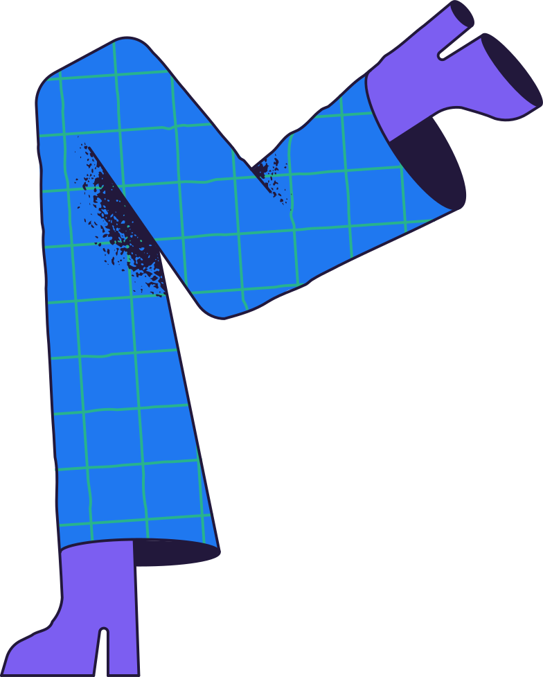 running legs Clipart illustration in PNG, SVG
