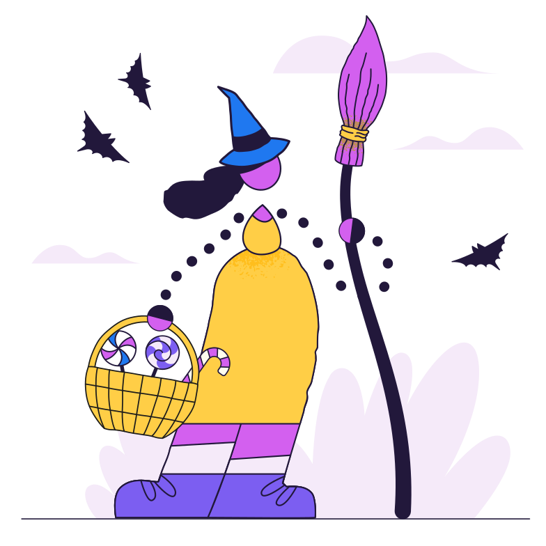 Young witch Clipart illustration in PNG, SVG