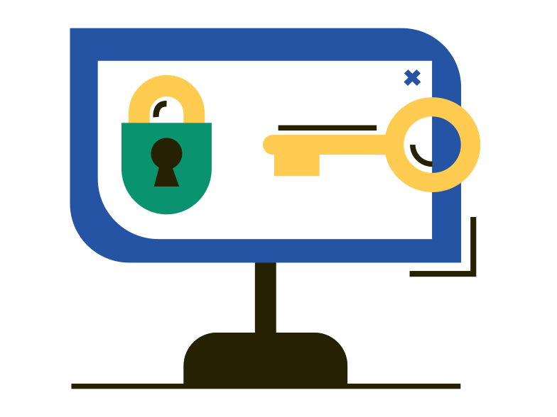 Computer security Clipart illustration in PNG, SVG