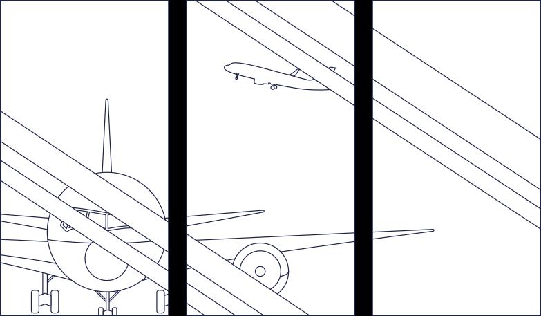 Ilustración de clipart de welcome!  airport window line en PNG, SVG