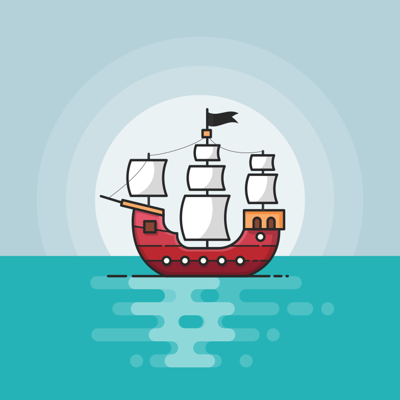 style Pirate boat Vector images in PNG and SVG | Icons8 Illustrations