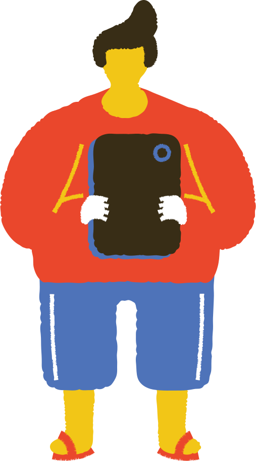 man with phone Clipart illustration in PNG, SVG