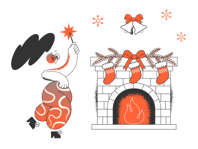 style Christmas evening images in PNG and SVG | Icons8 Illustrations