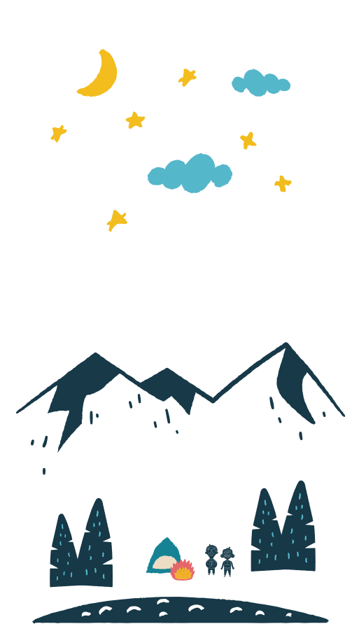 Camping in the national park Clipart illustration in PNG, SVG
